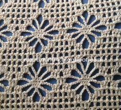 Beach Cover Up, free crochet pattern in stitch symbols from Marumin Crochet (with instructions in English and Spanish)