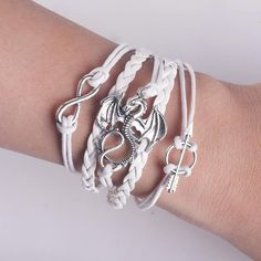 Gift Idea: Dragon Wrap Bracelet. This dragon bracelet is perfect for dragon lovers and game of thrones fans. This white bracelet is great for teenagers, young adults, adults and the perfect gift for your best friend who loves cool stuffs!