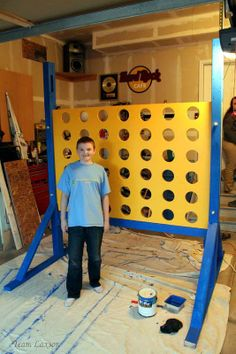 Giant connect 4 game :)  Maybe it would be neat to do a family game night with some giant games built in