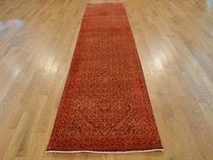 Buy 3' x 12' Runner Tabriz Mahi Wool and Silk Oriental Hand Knotted Rug #orange-rugs #rugs #carpet #home-decor #interior #runner #oriental #handmade
