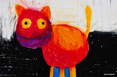 cat by Paul Megens Fine Art America, Abstract Art, Wall Art, Cats, Artist, Painting, Design, Gatos, Artists