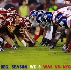 TNF (Thursday Night Football) hosted the NY Giants home at MetLife Stadium against the Washington Redskins. FINAL: NYG (32) vs. WAS (21) | #NFL #football #TNF #NFLWeek3 #NYGvsWAS #WASvsNYG #newyork #giants #washingtondc #dc #maryland #redskins #SB50 #superbowl50 #sports #champions #download #apple #google #iphone #iOS #android #powerfootballs - bflsports.com