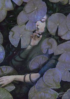 'Hidden Things' by Kim Myatt New painting for the Month of Fear challenge . - 'Hidden Things' by Kim Myatt New painting for the Month of Fear challenge … – - Art Inspo, Kunst Inspo, Art And Illustration, Fantasy Kunst, Fantasy Art, Dark Fantasy, Digital Art Fantasy, Aesthetic Art, Amazing Art