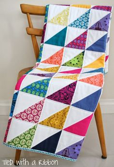 HST quilt by Tied with a Ribbon: Handmade Custom Quilts