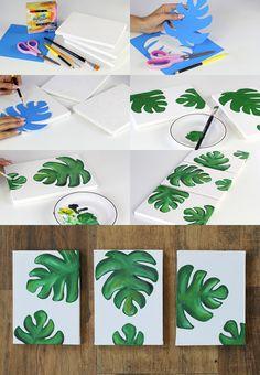 DIY: quadros decorativos                                                                                                                                                                                 Mais