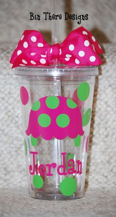 Turtle Tumbler  Personalized 16 ounce tumbler by BinThereDesigns, $12.50