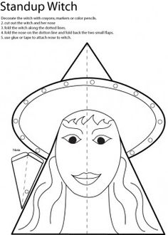 halloween for kids worksheets - Yahoo Image Search Results Halloween Activities, Halloween Projects, Halloween Kids, Preschool Halloween, Letter W Crafts, Halloween Templates, Witch Face, Craft Free, Pattern Images