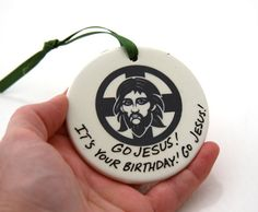 Jesus Christmas Ornament   Funny Ornament by LennyMud on Etsy #christmas ornaments