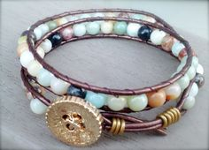 Dizzy Bees, found on facebook! Earthy leather wrap bracelet!