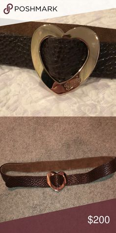 ff04770c5d9 Gucci Heart Belt Brown  AUTHENTIC  GUCCI BELT Gucci Accessories Belts  Authentic Gucci Belt