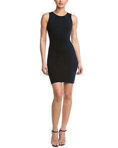 Rue La La — David Lerner Black & Navy Inset Panel Dress
