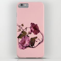 http://society6.com/product/convolvulus-and-tile_iphone-case #pink,#floral,#vintage