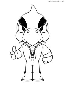 There are many high quality Brawl Stars coloring pages for your kids - printable free in one click. Star Coloring Pages, Coloring Pages To Print, Coloring Books, Star Illustration, Ink Illustrations, Star Character, Character Drawing, Blow Stars, Star Silhouette