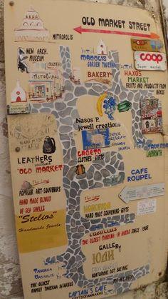 MAP OF NAXOS GREECE Naxos Greece, Paros, Greece Art, New Museum, Barcelona Travel, Popular Art, Hand Art, Greek Islands, Places To See