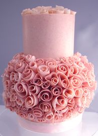 white chocolate with raspberry wedding cake