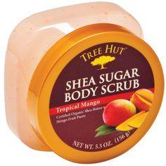 Tree Hut Shea Sugar Scrub, Tropical Mango, 5.5 Oz