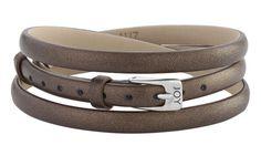 Joy de la Luz   Leather buckle bracelet bronze