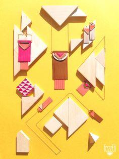 collection Fosseth complète sur fond jaune grand format