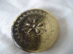 Large VINTAGE Stick Up Pierced Celluloid Button by abandc on Etsy