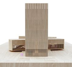 Penda Proposes a Transformable Design for the New Bauhaus Museum,Model. Image Courtesy of Penda
