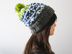 Ravelry: Ski Sweater Slouchy Hat pattern by Whitney Wickesberg
