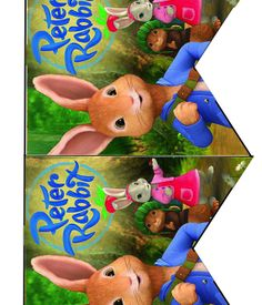 FREE Peter Rabbit Birthday Party cupcake toppers, banner, and water bottle label…