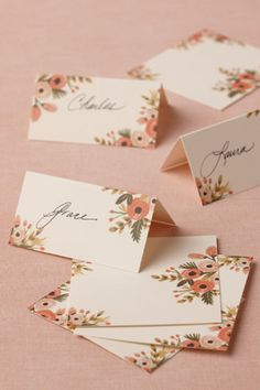 Name Cards. This site has some really cute things. If anything for inspiration?...