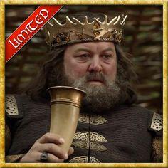 Game of Thrones Unique Viking Drinking Horn Mug Brass Holder For Beer Wine Mead Stark Sigil, Real Vikings, Game Of Thrones Merchandise, Daenerys Targaryen, Viking Drinking Horn, Ale Beer, Mead, Horns, Brass