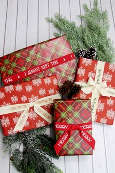 Custom Christmas Wrapping Ribbons
