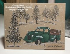 Stampin' Up! Lovely as a Tree, Country Livin, 2017 Stampin Blends (Bermuda Bay and Bronze)