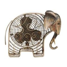 Deco Breeze 7 in. Figurine Fan-Elephant-DBF0373 at The Home Depot