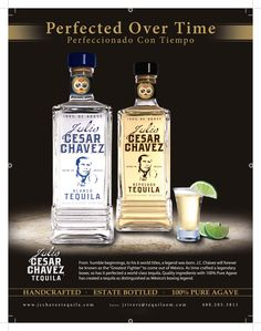 The new Ad for Julio Cesar Chavez Tequila, designed by P360 Creative Branding