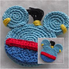 You can also use it for decoration of Christmas tree, tag for suitcase in Disney Disney Crochet Patterns, Crochet Patterns Amigurumi, Crochet Hooks, Doily Patterns, Applique Patterns, Thread Crochet, Dress Patterns, Chain Stitch, Slip Stitch