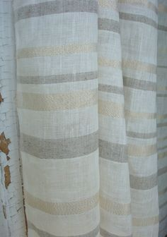 Ivory Airy linen curtain panels linen curtains linen drapes (140.00 USD) by Luxoteks