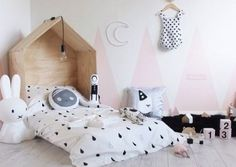 mommo design: TRIANGLES ON THE WALL