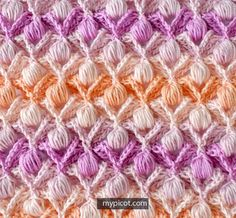 Crochet Textured Puff Stitch Tutorial - (mypicot)