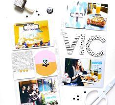 ☀️Buenos días! Dos semanas de Enero en el blog Espero que tengáis un gran día!/// Two spreads on the blog today. I hope you have a lovely day! #projectlife #scrapbooking #papercraft #memorykeeping #messybox #studiocalico #pocketpages #pocketscrapbooking #ashleygoldberg