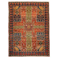 Pakistani Sultanabad, One-of-a-kind Rug | From a unique collection of antique and modern caucasian rugs at https://www.1stdibs.com/furniture/rugs-carpets/caucasian-rugs/