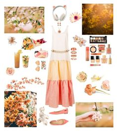 """""""Summer Stroll"""" by blackmagicmomma ❤ liked on Polyvore featuring Lisa Marie Fernandez, Sergio Rossi, Emilio Pucci, Rifle Paper Co, Linda Farrow, Monet, NYX, MAC Cosmetics, Dolce&Gabbana and Butter London"""