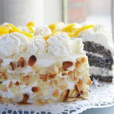 Pfirsich-Mohn-Torte   BRIGITTE.de