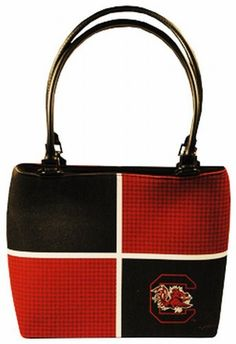 NCAA South Carolina Fighting Gamecocks Ladies Color Block Purse by Game Day Outfitters. $19.99. Officially Licensed NCAA Product. Team Logo and Colors. Great for Every Fan!. Show Your Team Pride. South Carolina Fighting Gamecocks Ladies Purse Color Block
