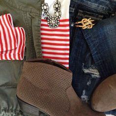Instagram @headedoutthedoor #ootd || @oldnavy shirt and vest | @vigossusa jeans | @targetstyle boots | @jcrew factory necklace | @jcrew bracelet