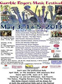 Gamble Rogers Music Festival is this weekend!