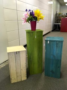 Pallet Pot or Vase Stands - 130+ Inspired Wood Pallet Projects | 101 Pallet Ideas - Part 4