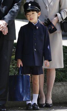 Prince Hisahito at Ochanomizu University Elementary School for his entrance ceremony in Tokyo on 7 April 2013