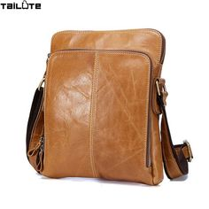 Good price High quality 2017 Brand Genuine Leather bag Vintage Designer Men Crossbody bags Cowhide leather small messenger bag for man just only $36.57 with free shipping worldwide  #crossbodybagsformen Plese click on picture to see our special price for you