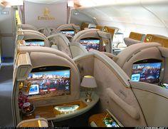 Airbus A-380 interior, Emirates Airline