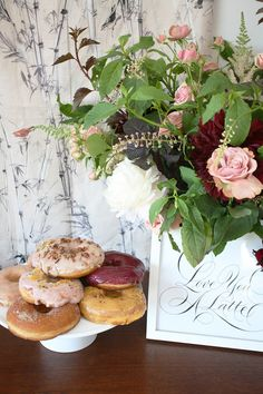 Donuts and flowers