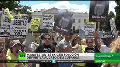 Manifestantes exigen una solución definitiva al caso de 'Los Cinco'