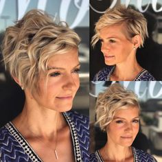 70 Short Shaggy, Spiky, Edgy Pixie Cuts and Hairstyles Long Curly Pixie Choppy Pixie Cut, Edgy Pixie Cuts, Pixie Bob Haircut, Pixie Haircuts, Short Pixie, Undercut Pixie, Trendy Haircuts, Pixie Cut Color, Asymmetrical Pixie Cuts